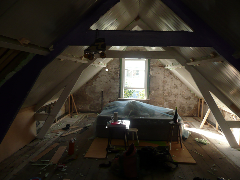 nr 37B attic, soon to be trainee rooms (but Remi already sleeping there)