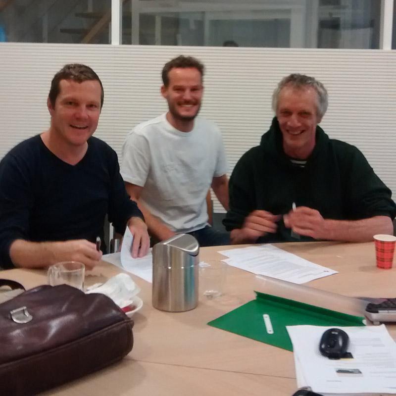 left to right: Mark van de Velden, Erik Jutten, Piet Vollaard